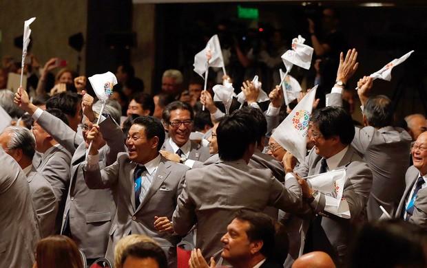 Tóquio comemoração Olimpíadas 2020 (Foto: Getty Images)