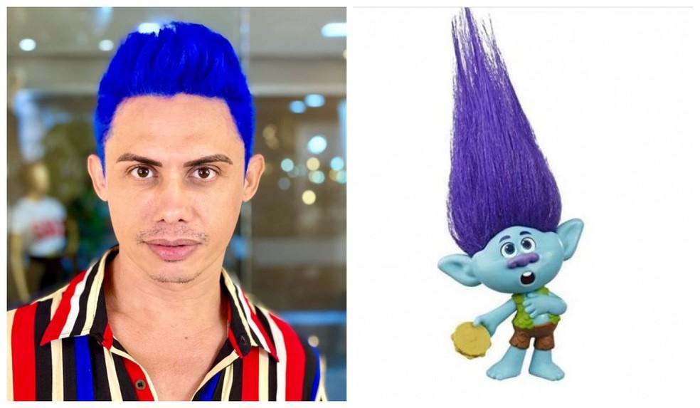 Silvero Pereira ganhou elogios e foi comparado a personagem de animação — Foto: Reprodução/Instagram