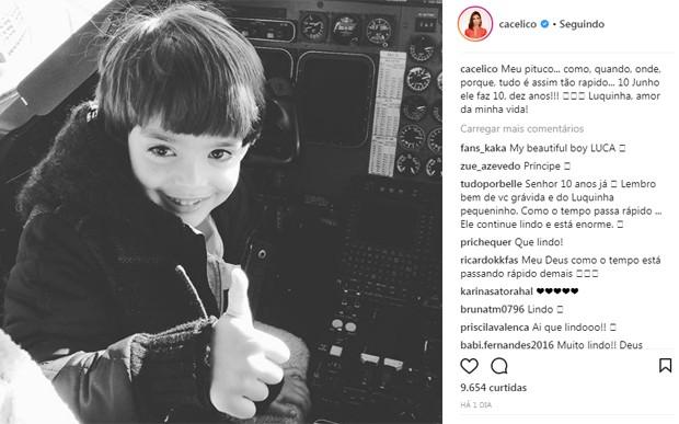 Carol Celico presta homenagem ao filho, Luca (Foto: Reprodução/Instagram)