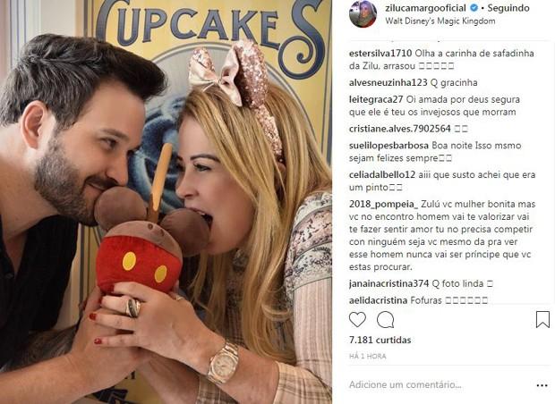 Clique de Zilu sensualizando com o namorado bonitão rendeu muitos comentários e curtidas (Foto: Reprodução/Instagram)