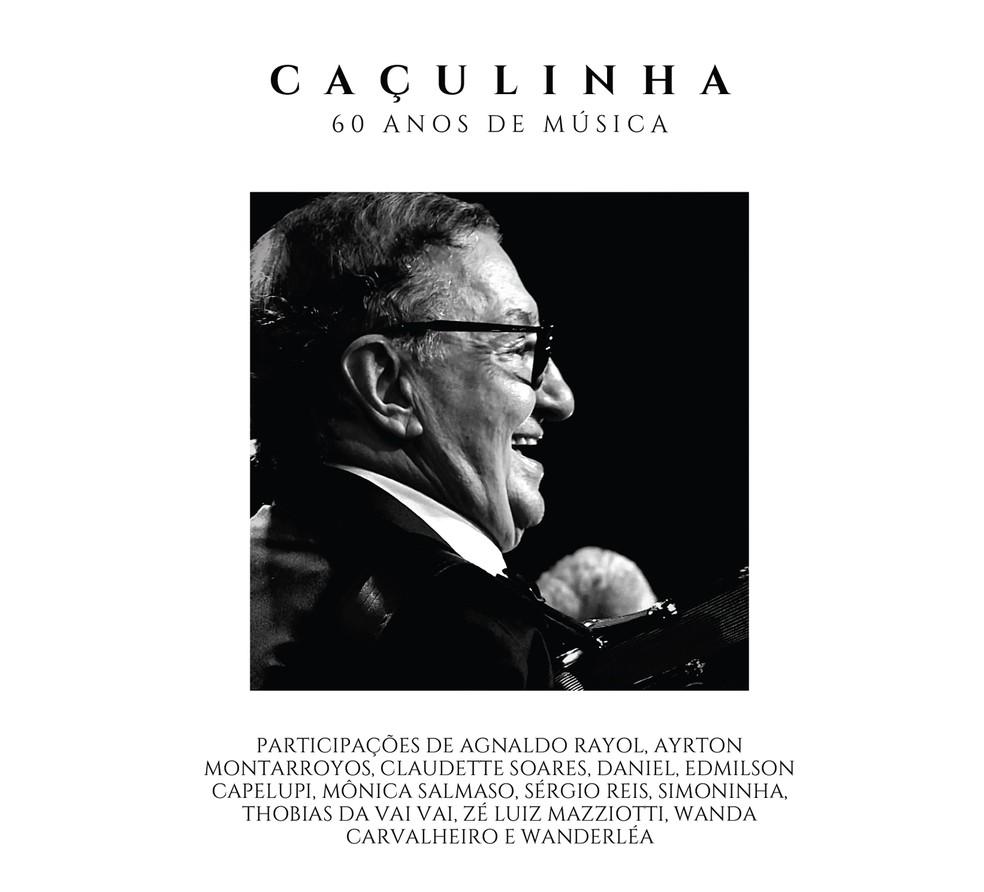Capa do álbum '60 anos de música', de Caçulinha — Foto: Reprodução
