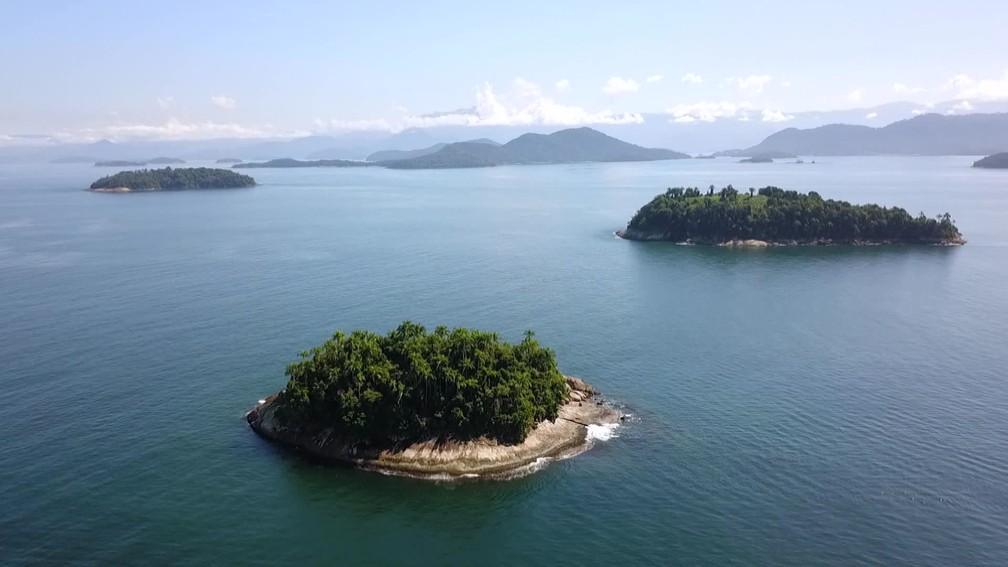 Esec de Tamoios é formada por 29 ilhas, lajes e rochedos — Foto: Reprodução/TV Globo