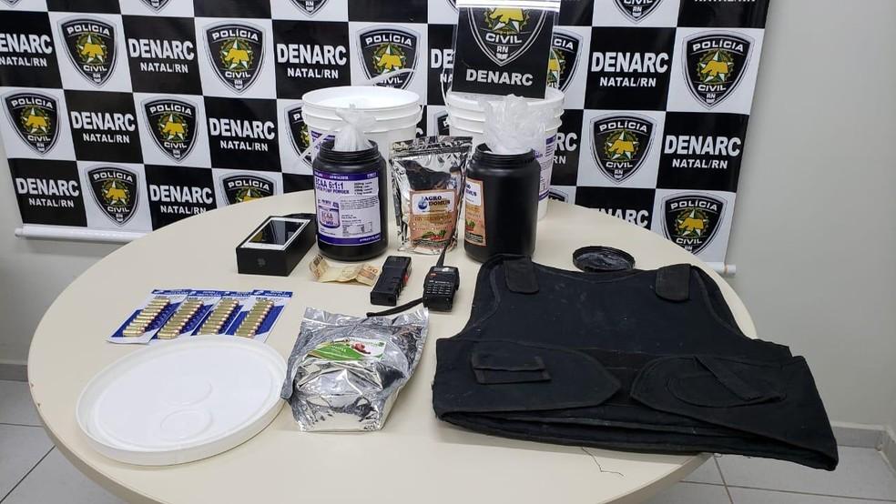 Material foi encontrado com suspeitos na Zona Leste de Natal — Foto: Divulgação