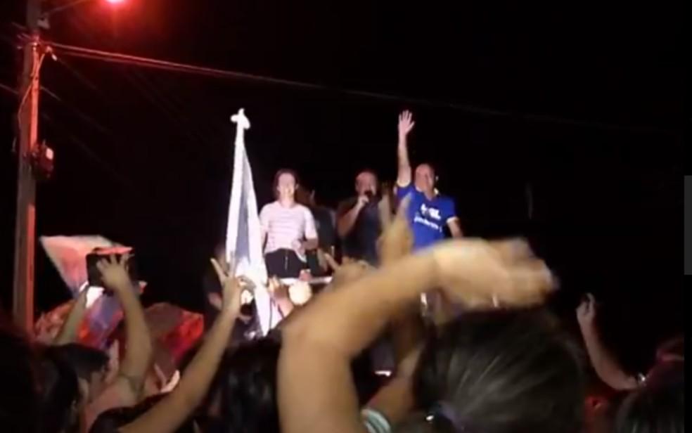 Vanuza Valadares foi eleita prefeita de Porangatu, em Goiás — Foto: Reprodução/TV Anhanguera