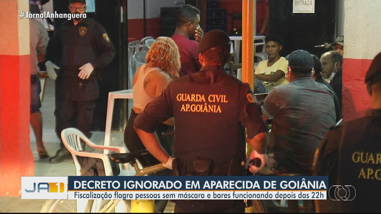 Fiscalização flagra bares e restaurantes descumprindo decreto, em Aparecida de Goiânia