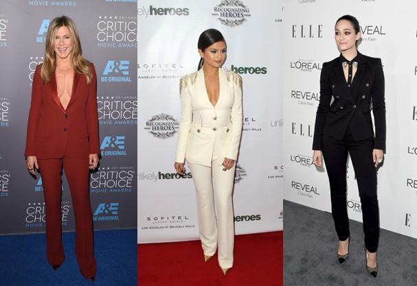 Jennifer Aniston, Selena Gomez e Emmy Rossum (Foto: Getty Images)
