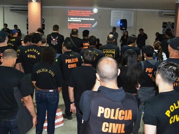 Operação Meganha, da Polícia Civil, prendeu 11 agentes penitenciários que participavam de quadrilhas de tráfico junto com apenados (Foto: Polícia Civil/Divulgação)
