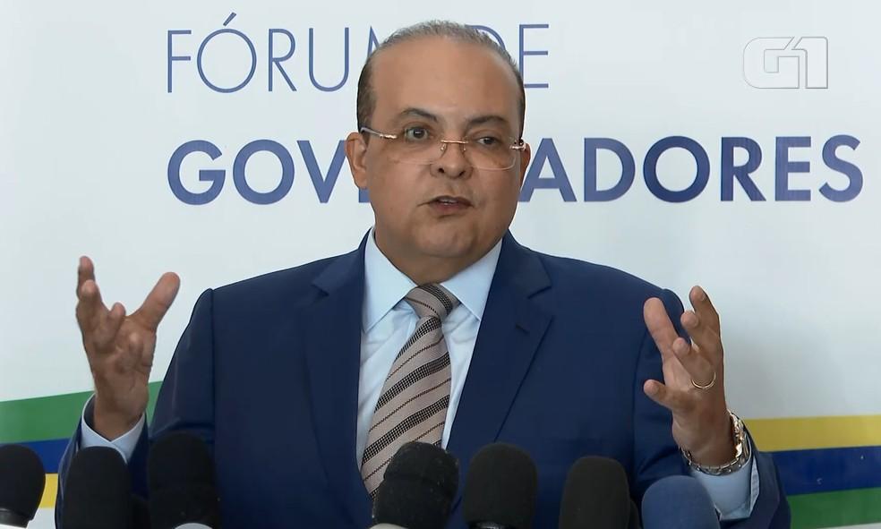 Governador do DF, Ibaneis Rocha — Foto: Reprodução/TV Globo
