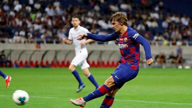 Griezmann em ao pelo Barcelona na sua primeira partida pelo clube catalo