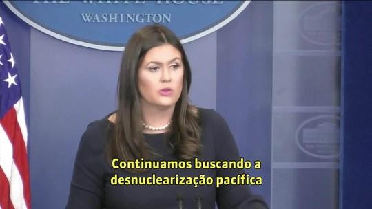 Casa Branca diz que acusação norte-coreana de que EUA declararam guerra é 'absurda'