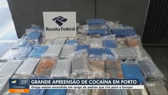 Carga de cocaína é apreendida no porto de Navegantes