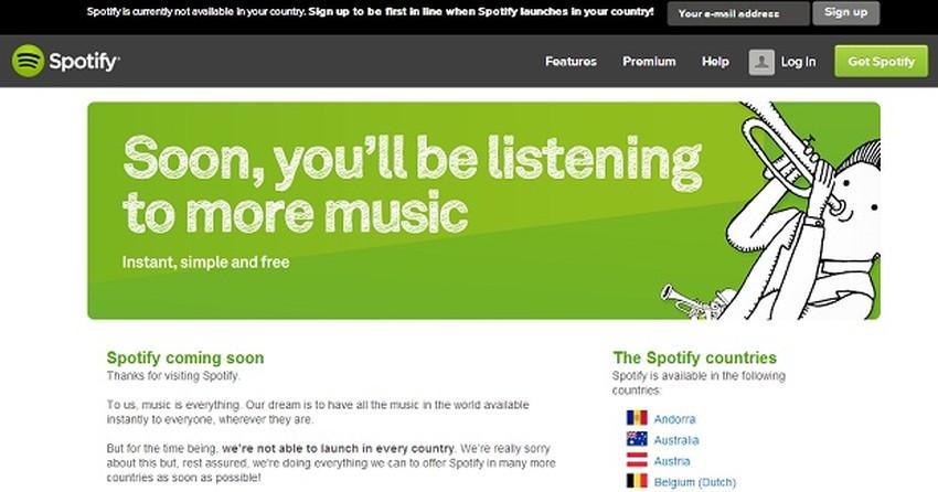 Saiba como usar o Spotify, mesmo bloqueado no Brasil