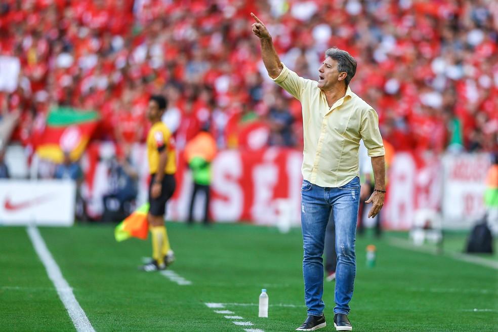 Renato Gaúcho não quis revelar fatos que culminaram em briga no Gre-Nal (Foto: Lucas Uebel / Grêmio F.B.P.A.)