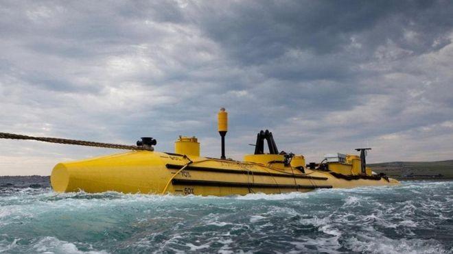 Na ilha de Eday, o Centro Europeu de Energia Marinha testa novas turbinas de maré em meio às águas agitadas (Foto: ALAMY)