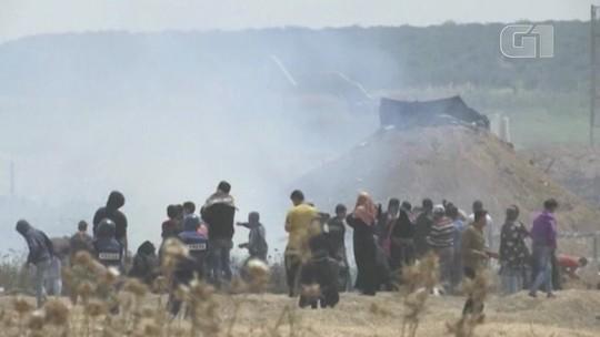 Confrontos na fronteira de Gaza com Israel deixa morto e feridos