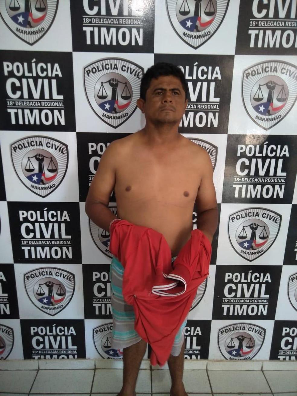 Egnaldo Gomes de Araujo é suspeito de cometer estupro de vulnerável contra uma criança de nove anos em Timon — Foto: Divulgação/Polícia Civil