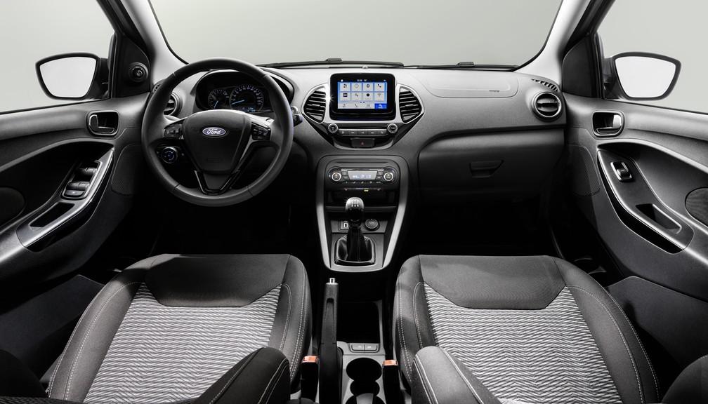 Interior do Ford Ka europeu (Foto: Divulgação)