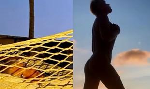 Xuxa Meneghel faz topless em viagem de férias a Aruba. A apresentadora viajou após a venda de sua mansão no Rio de Janeiro | Reprodução