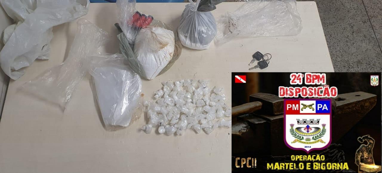 Quatro pessoas são presas em operação contra o tráfico de drogas em Belém