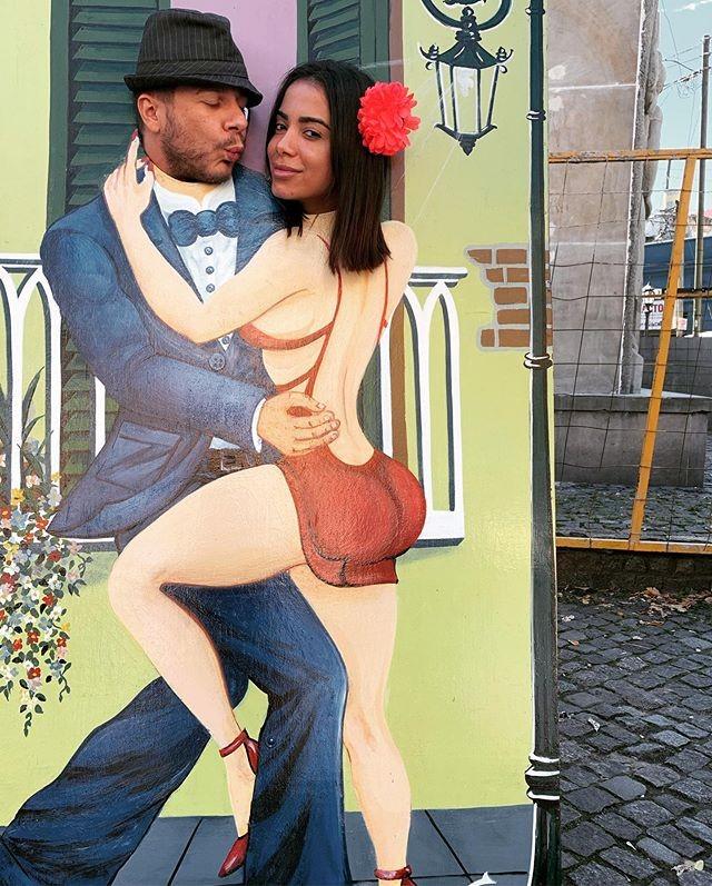 Thiago Fortes e Anitta (Foto: Reprodução)