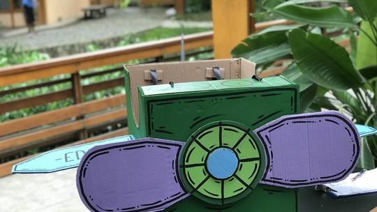 Reproduza os moldes e monte um avião de brinquedo com uma caixa de papelão