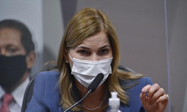 Mayra Pinheiro, a Capitã Cloroquina, em depoimento à CPI da Covid