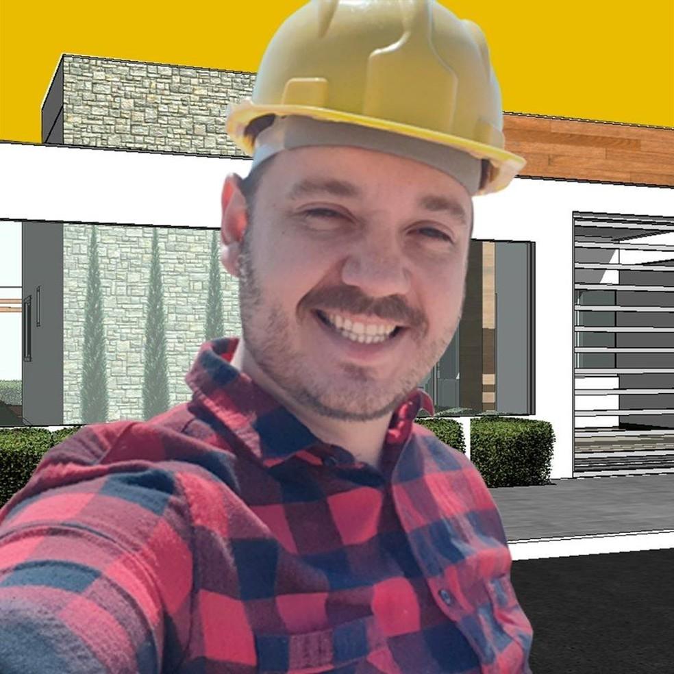 'Charles Construtor', de 36 anos, foi denunciado no dia 20 de fevereiro pelo MPE por exercer ilegalmente a profissão do arquiteto e urbanista em Mato Grosso — Foto: Facebook/Reprodução