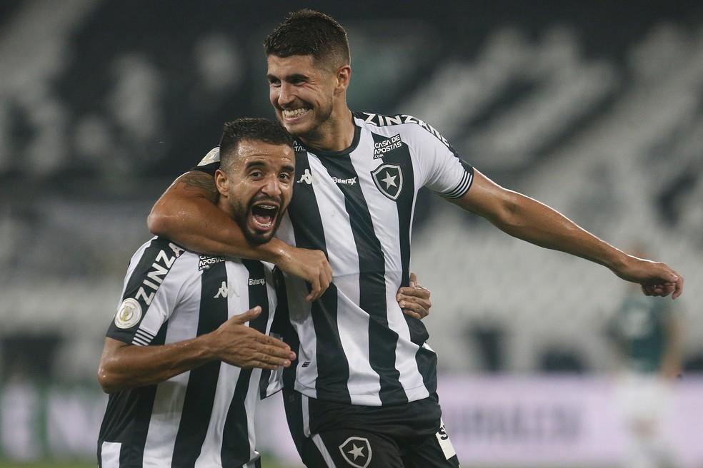 Pedro e Caio marcaram os gols do jogo — Foto: Vitor Silva/Botafogo