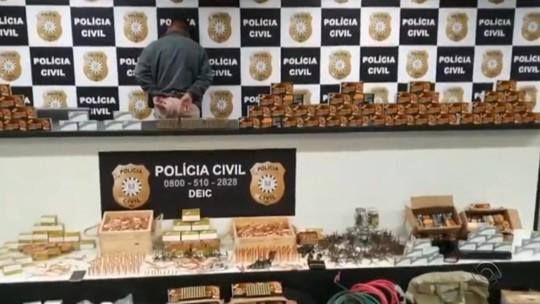 Homem é preso com mais de 16 mil munições de uso exclusivo da polícia em Porto Alegre