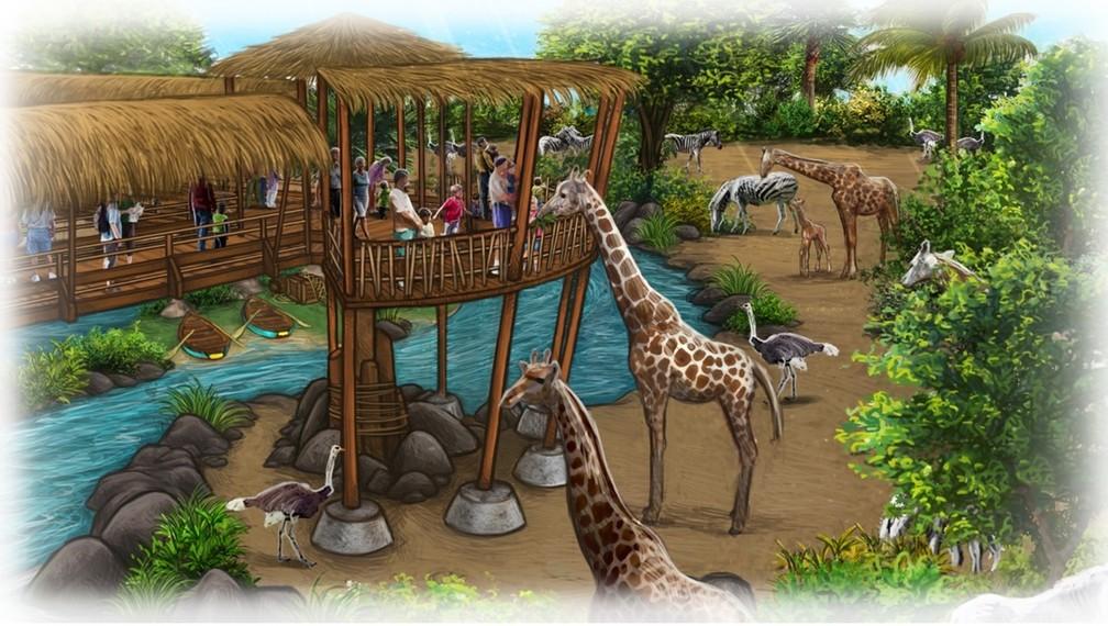 Ilustração mostra como vai ficar atração do Zoo Rio (Foto: Divulgação)