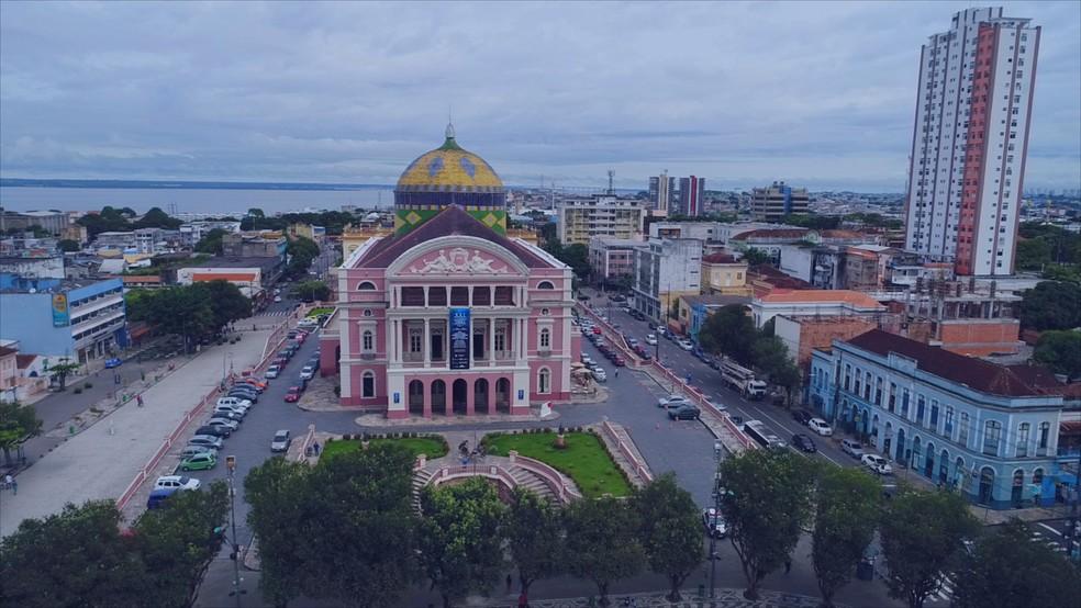 Centro Histórico de Manaus — Foto: Reprodução/Rede Amazônica