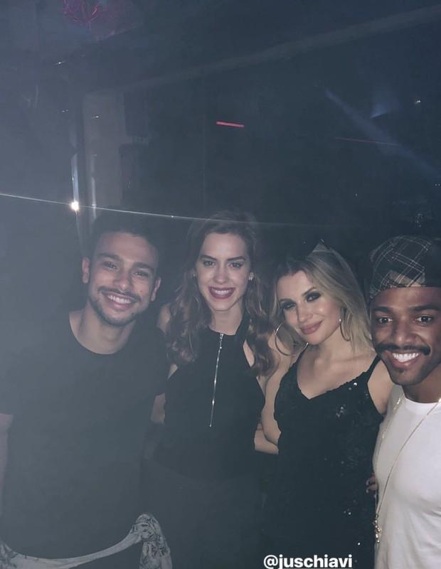 Sophia Abrahão e Sérgio Malheiros na festa de Nego (Foto: Reprodução/Instagram)
