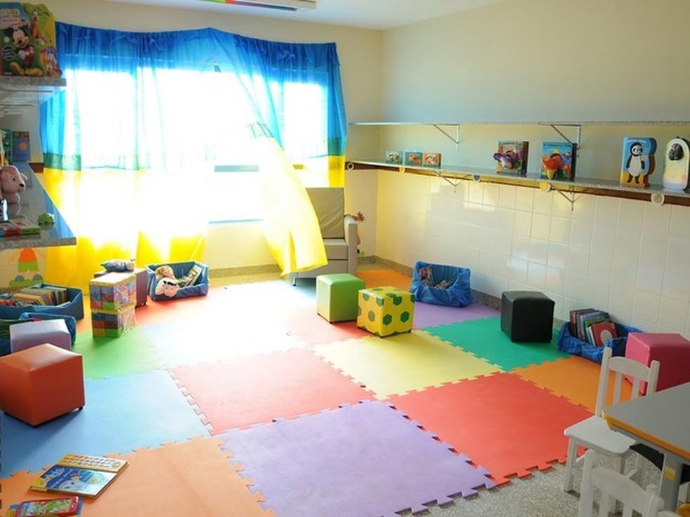 Sala de aula de uma creche em Sobradinho — Foto: Pedro Ventura/Agência Brasília