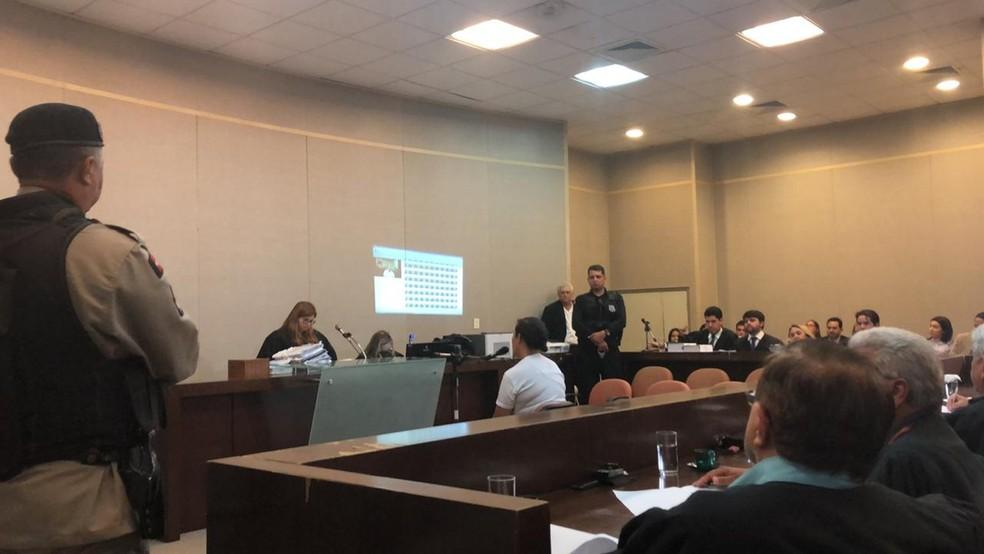 Maria Celeste foi a júri popular nesta quinta-feira (11), jaunto a outros três acusados — Foto: Zuíla David/TV Cabo Branco