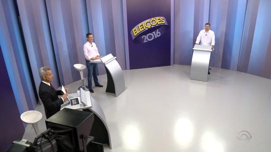 Jean Kuhlmann e Napoleão Bernardes fazem debate na RBS TV