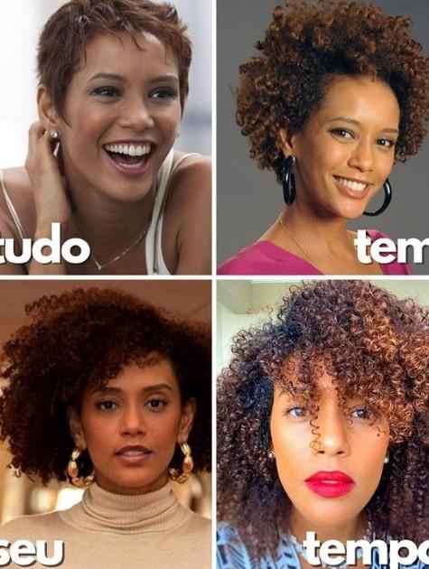 Taís Araujo em diferentes fases (Foto: Reprodução)