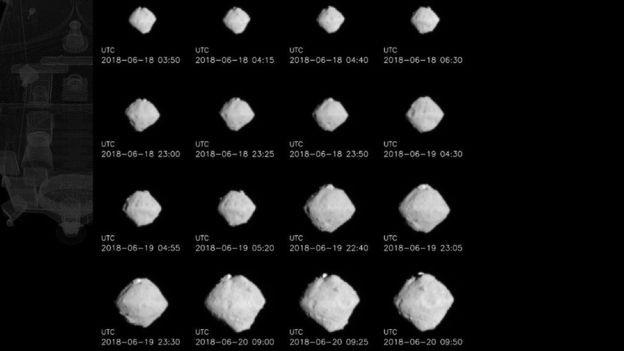 As diferentes faces do Ryugu, o asteroide que pode ajudar pesquisadores a entenderam como o Sistema Solar se formou (Foto: BBC)