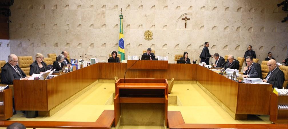 Sessão de julgamento no plenário do STF — Foto: Nelson Jr./STF