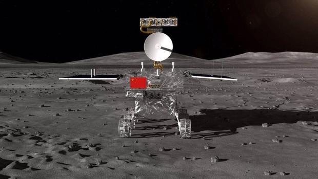 Sonda chinesa faz 1º pouso na face oculta da Lua (Foto: Divulgação/Academia Chinesa de Ciências)