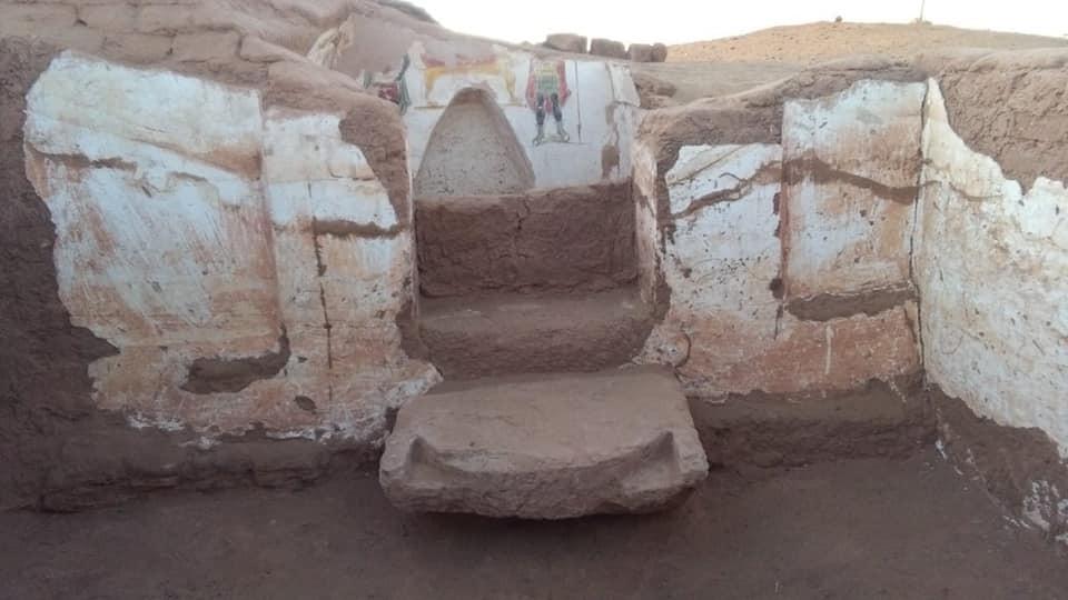 Entrada de uma das tumbas (Foto: Egyptian Ministry of Antiquities)