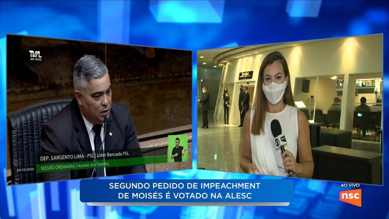 Alesc vota 2º pedido de impeachment contra governador de SC nesta terça