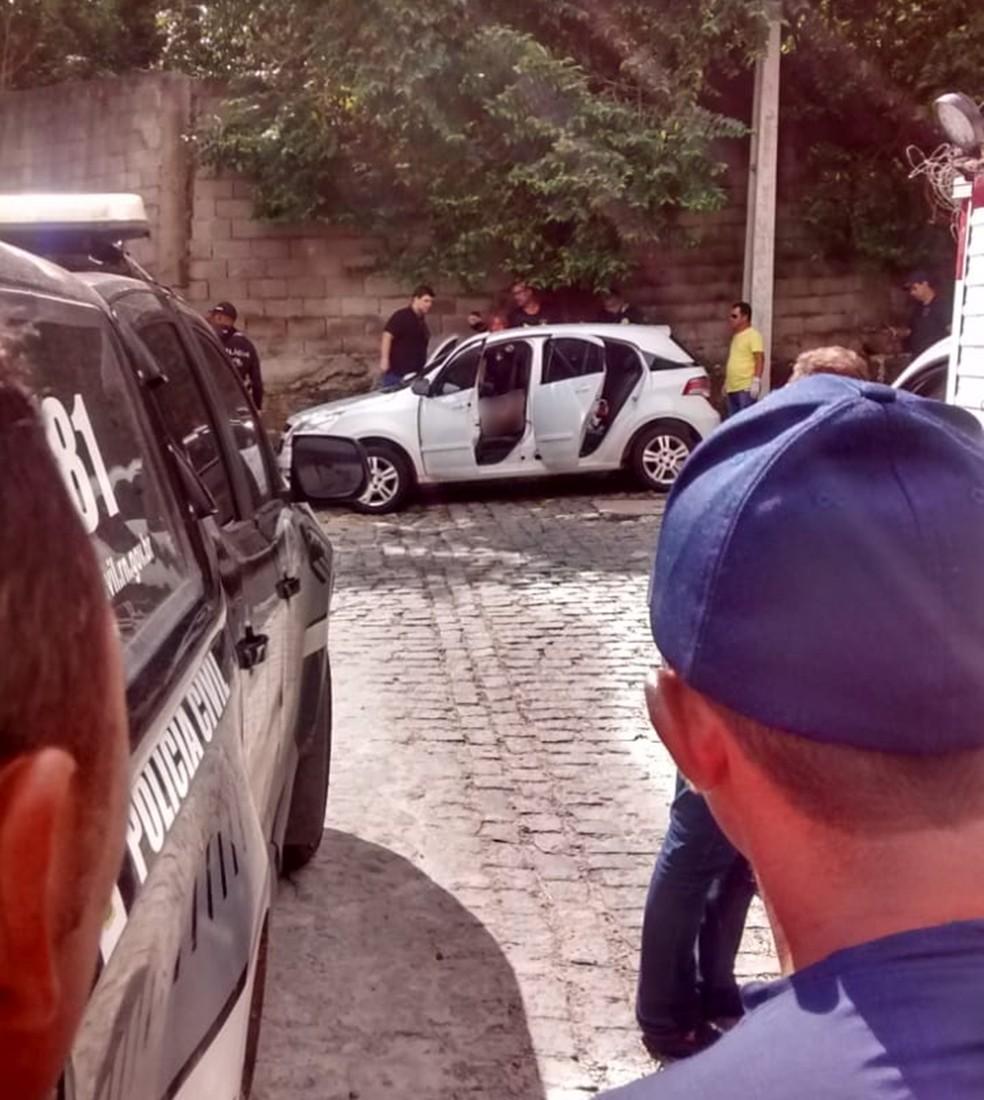 Leonardo Queiroz foi assassinado dentro do seu próprio carro, um Chevrolet Agile — Foto: Redes Sociais