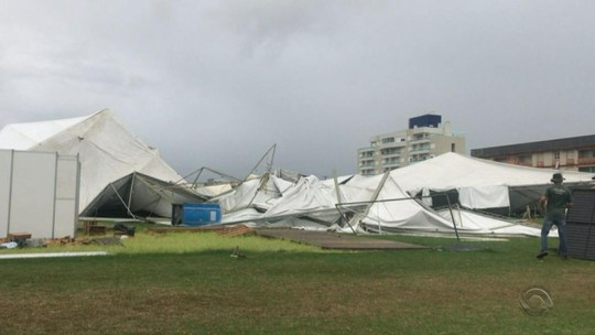 Chuva forte causa estragos na Região Sul do RS