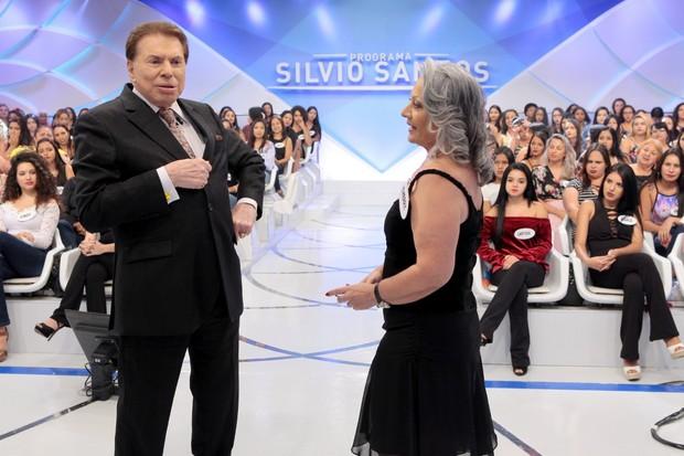 Therry Klotzel com Silvio Santos (Foto: Lourival Ribeiro/SBT)