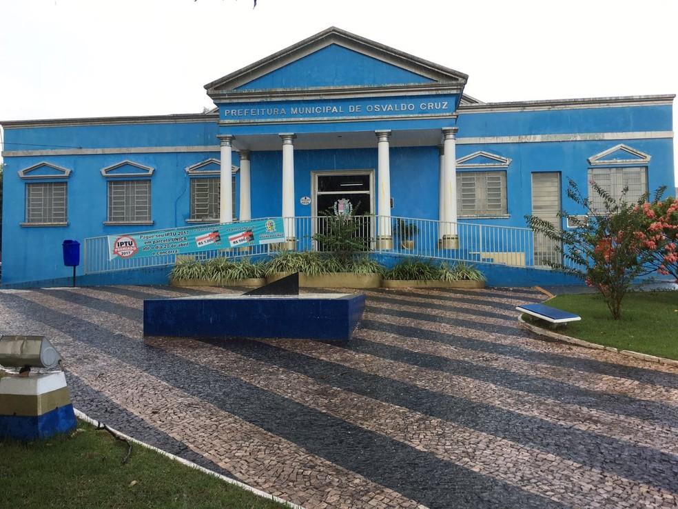Prefeitura de Osvaldo Cruz — Foto: Arquivo/G1