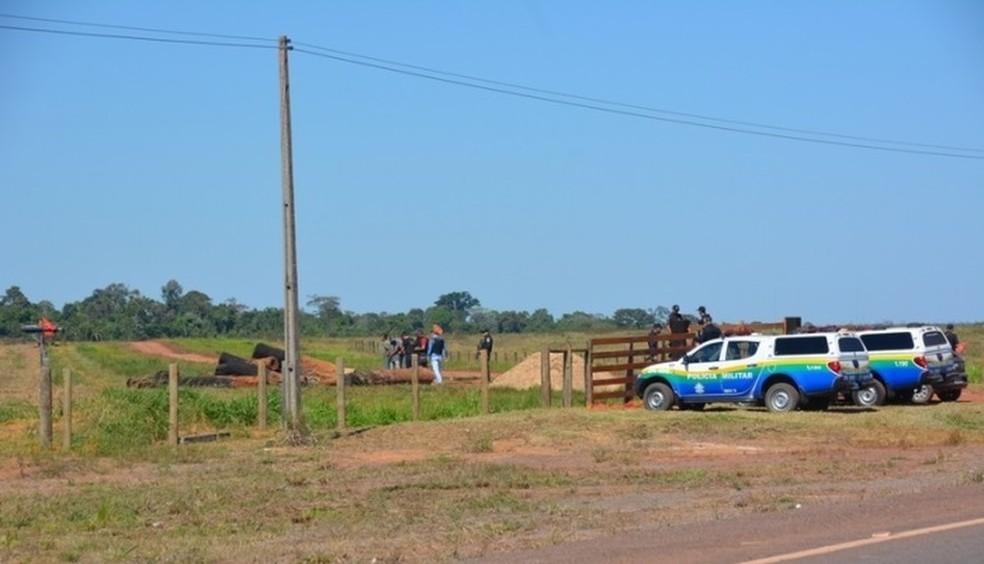 Suspeita é que os homens detidos façam parte da Liga dos Camponeses Pobres (LCP) (Foto: PM/ Divulgação)