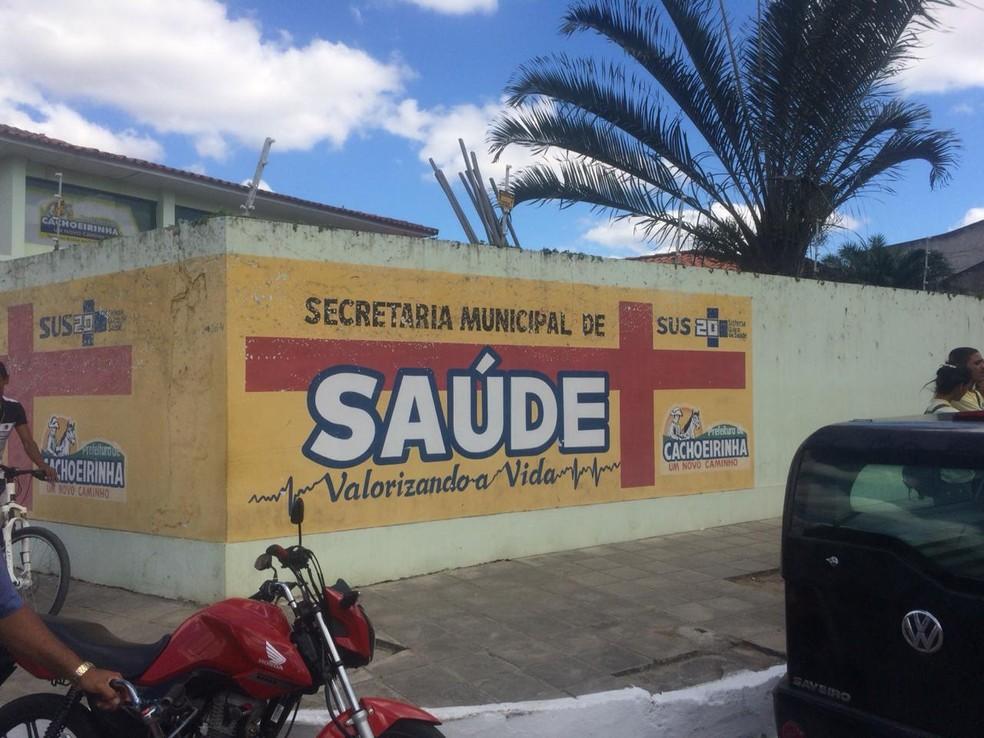 Secretário foi morto a tiros dentro da Secretaria de Saúde, em Cachoeirinha — Foto: Franklin Portugal/TV Asa Branca