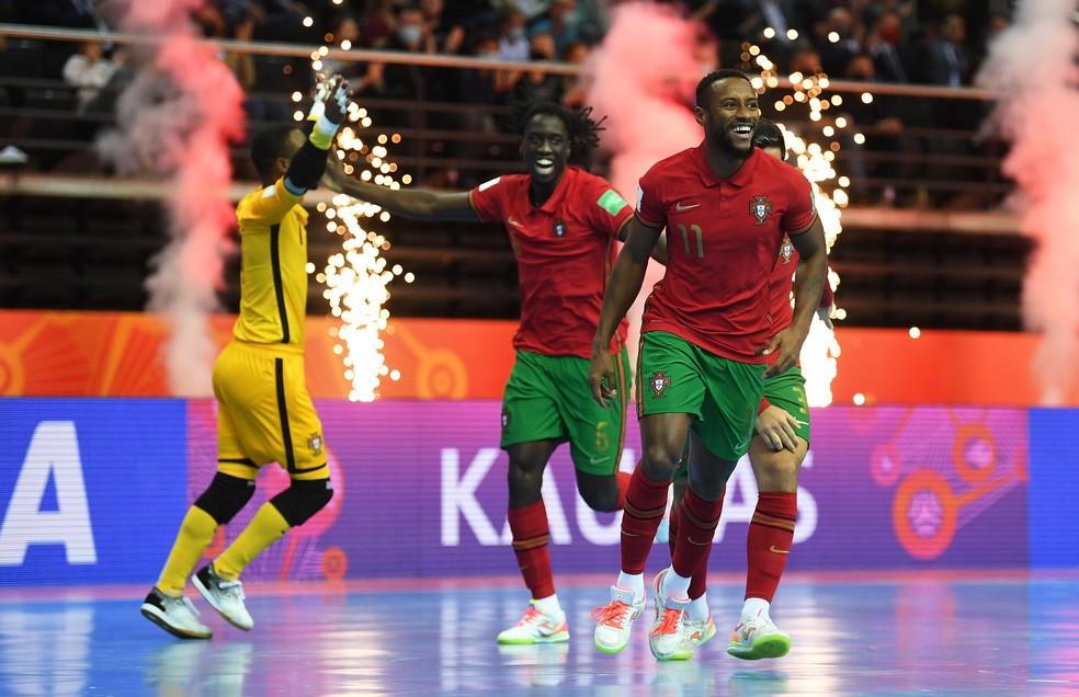 Pany comemora o segundo gol de Portugal — Foto: Oliver Hardt/FIFA