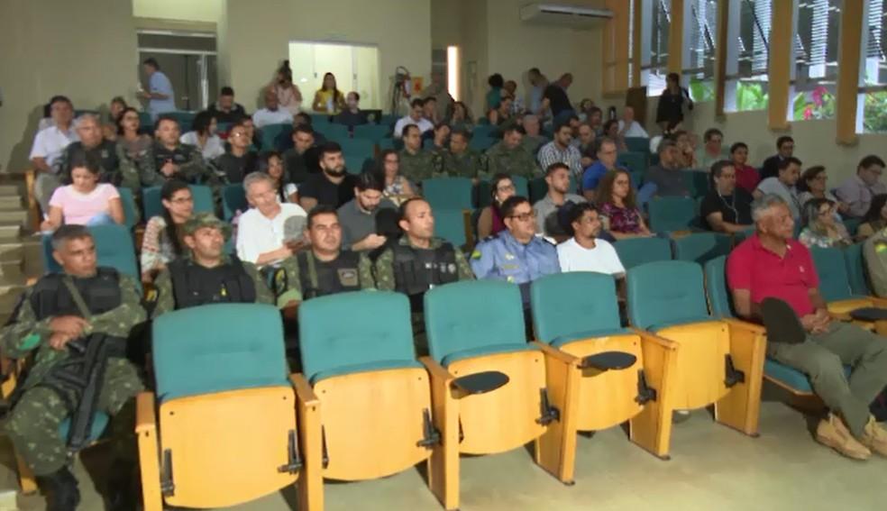 Reunião para apresentar novo plano estadual ocorreu nesta quarta-feira (7) em Rio Branco (Foto: Reprodução/Rede Amazônica Acre)