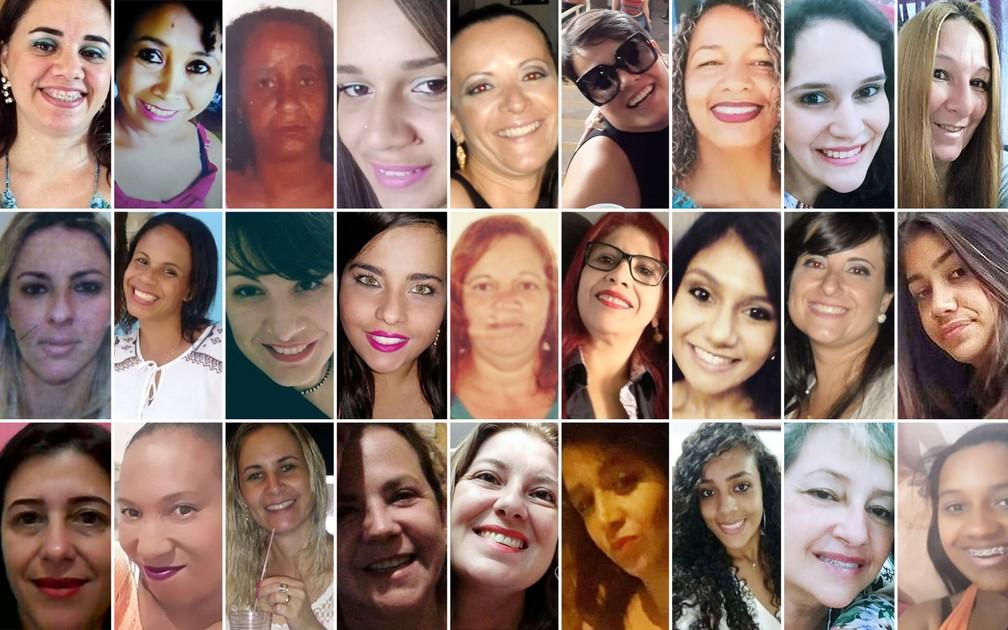 Mulheres vítimas de feminicídio nas regiões de Campinas e Piracicaba — Foto: Arte/G1